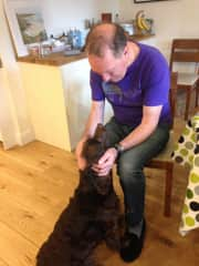 Simon with my sister's spaniel, Dylan, for whom we pet-sit from time to time