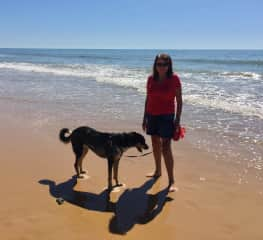 With Leia in The Algarve