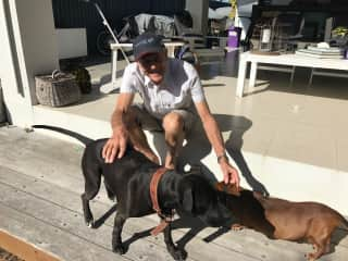 Terry with Hanna and Diesel