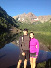 Ryan and me hiking at the maroon bells