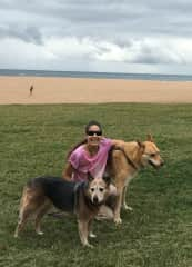 Me and my dogs in South Africa between 2005-2020