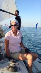 Sailboat racing in Michigan, USA