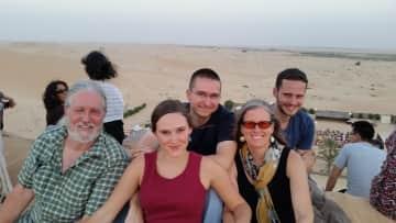 Family in Abu Dhadi desert