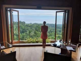 Soaking in the lush green views of Ubud, Bali