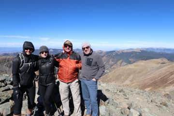 Summittied Wheeler Peak with family.