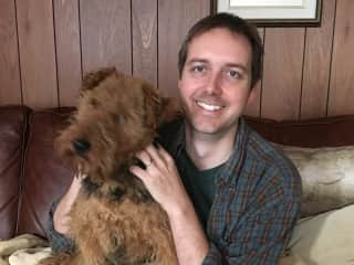 Jeff with LB the Welsh Terrier