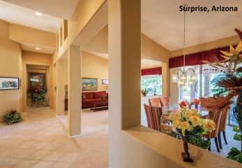 Living room of Arizona home