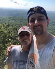 Connor & I hiking in the Poconos!