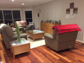 Sitting room near kitchen.....good area for relaxing and for children to play.