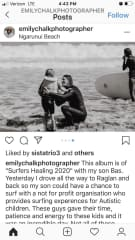 A touching photo captured of Jon, during 2020 surfers healing event where he surfs with children with autism