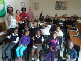 A school in Walvis Bay, Namibia I visited.