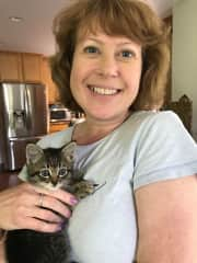 Me and the most adorable kitty!