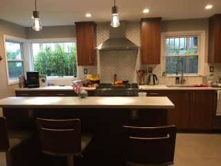 Our kitchen was recently remodeled with heated floors and all new appliances.