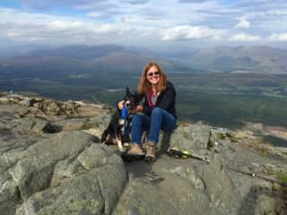 Hiking in the Scottish highlands with Hamish