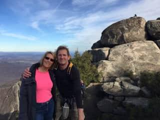 Al and Diane hiking