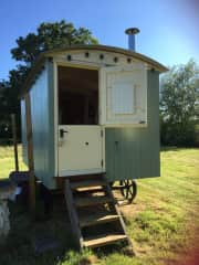 Our Cosy shepherds hut