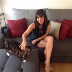 Sarah and Kuki (our cat)