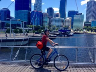 Riding the bike in Perth, Western Australia