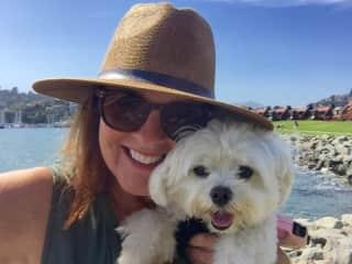 Bea & me - pet sitting in Tiburon, CA