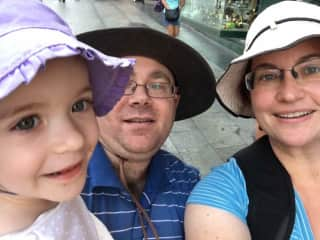 Our family travelling in Spain.
