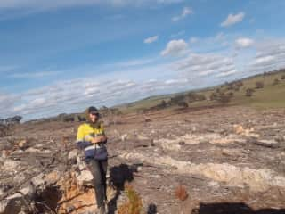 This is me working in Australia. I have been with a contracting company for a couple years - planting forests.