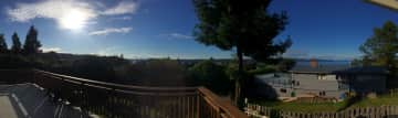 Panoramic ocean views from the deck