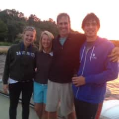My immediate family: Sara, me, Peter, Oliver