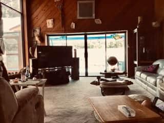 Living room and pool room