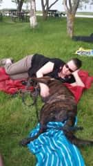Sherri & Kai enjoy snuggles at the park