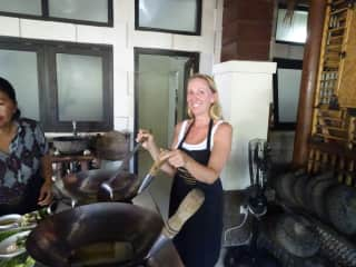 me in a cooking class in Bali