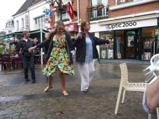 Me and Mum have a keen interest in dancing mainly in the rain
