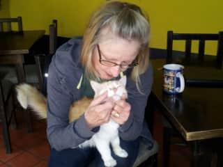 Carole with Peaches Ecuador.