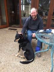 Derek with a Kelpie