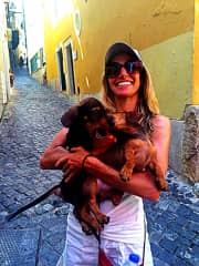 Me and puppies in Lisbon.