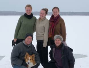 Our family - before our daughters all married and our dog began to live with one of them!