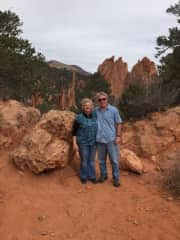 The two of us hiking in Colorado.
