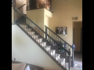 Staircase leading up to the bedrooms