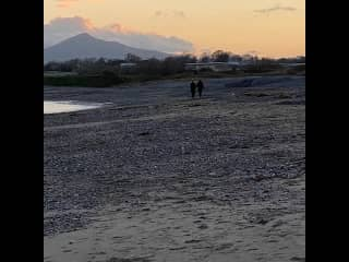 Sun goes down at Killiney beach
