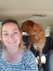 Me and Macy going for a ride