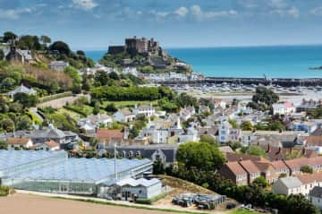 Gorey village. We live in the centre of the small village, 5 minutes from the beach