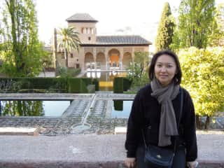 Susan at the Alhambra
