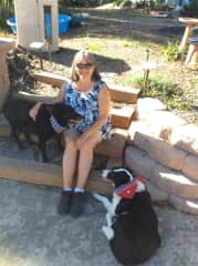 With Dillon and Rio in Palos Verdes, California