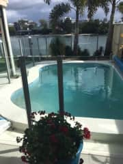 Heated pool to 32 degrees year round
