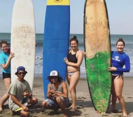 Nicaragua - Me, on the right, pretending I know how to surf ;)