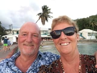 Liz and Greg in St. Vincent, we love travel!