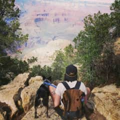 Bean and I at the Grand Canyon