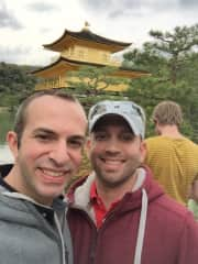 Matthew and I love to travel! Here we are at the Golden Temple in Kyoto, Japan