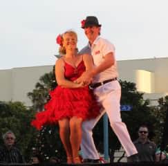Myself & husband Steve performing Salsa