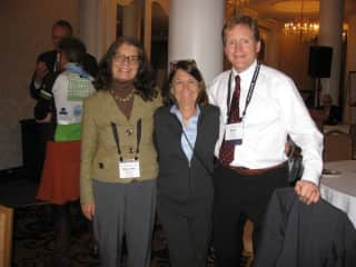 This is me, in the middle, with some of my colleagues, at a conference.
