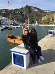 Vicky and Helen visiting us in Spain